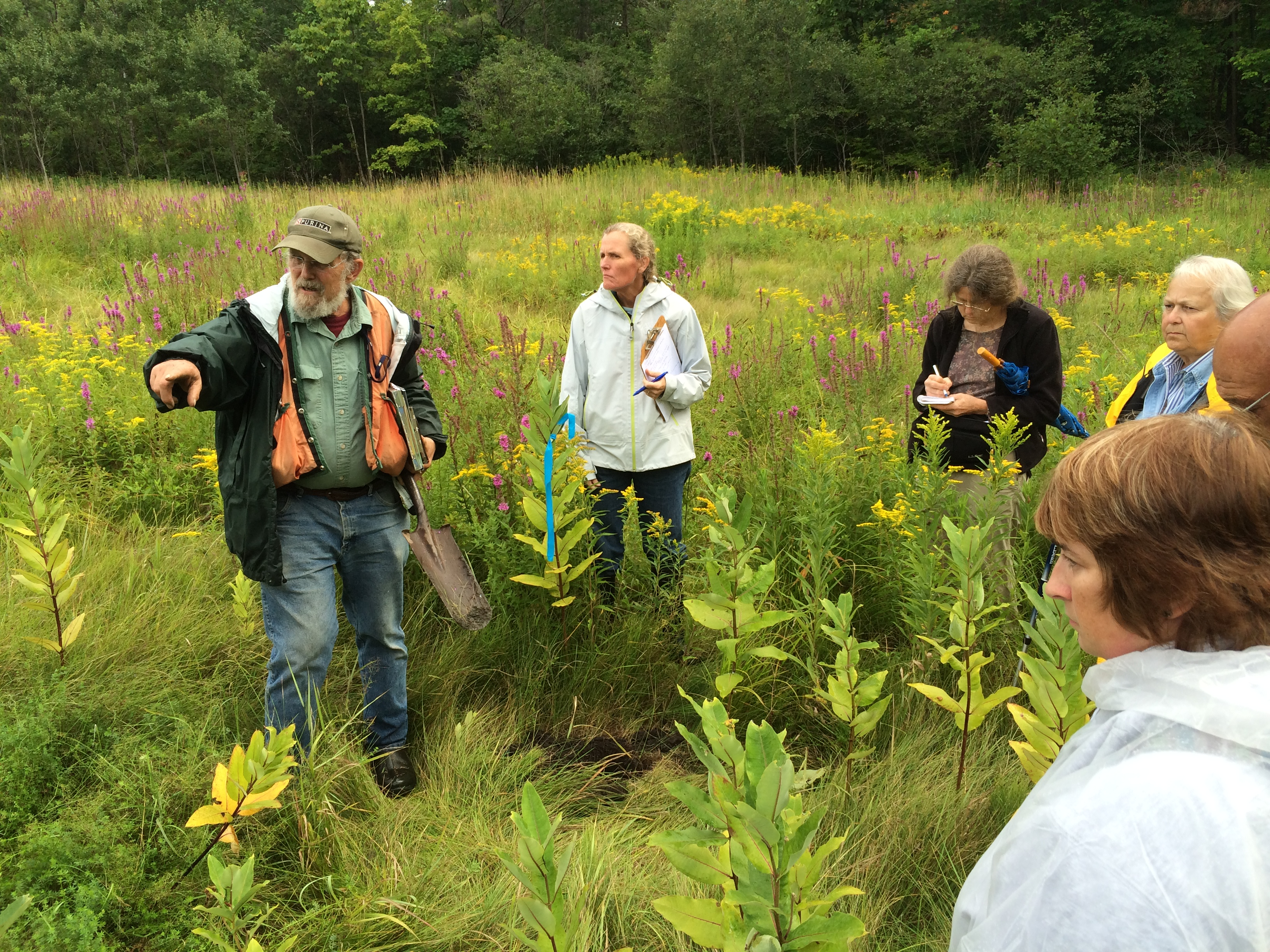 Jim Kennedy, wetland scientist, at a 2014 Field Training Series on Wetland Identification